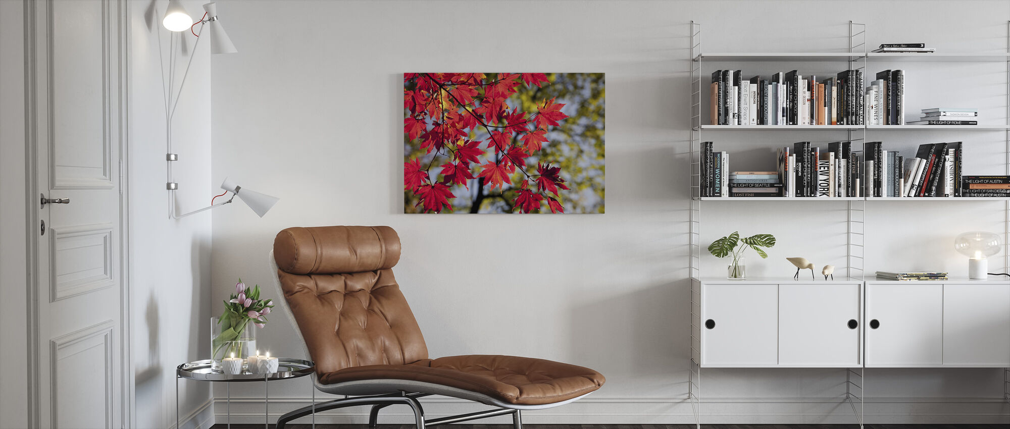 Autumn Maple Leaves - Canvas print - Living Room
