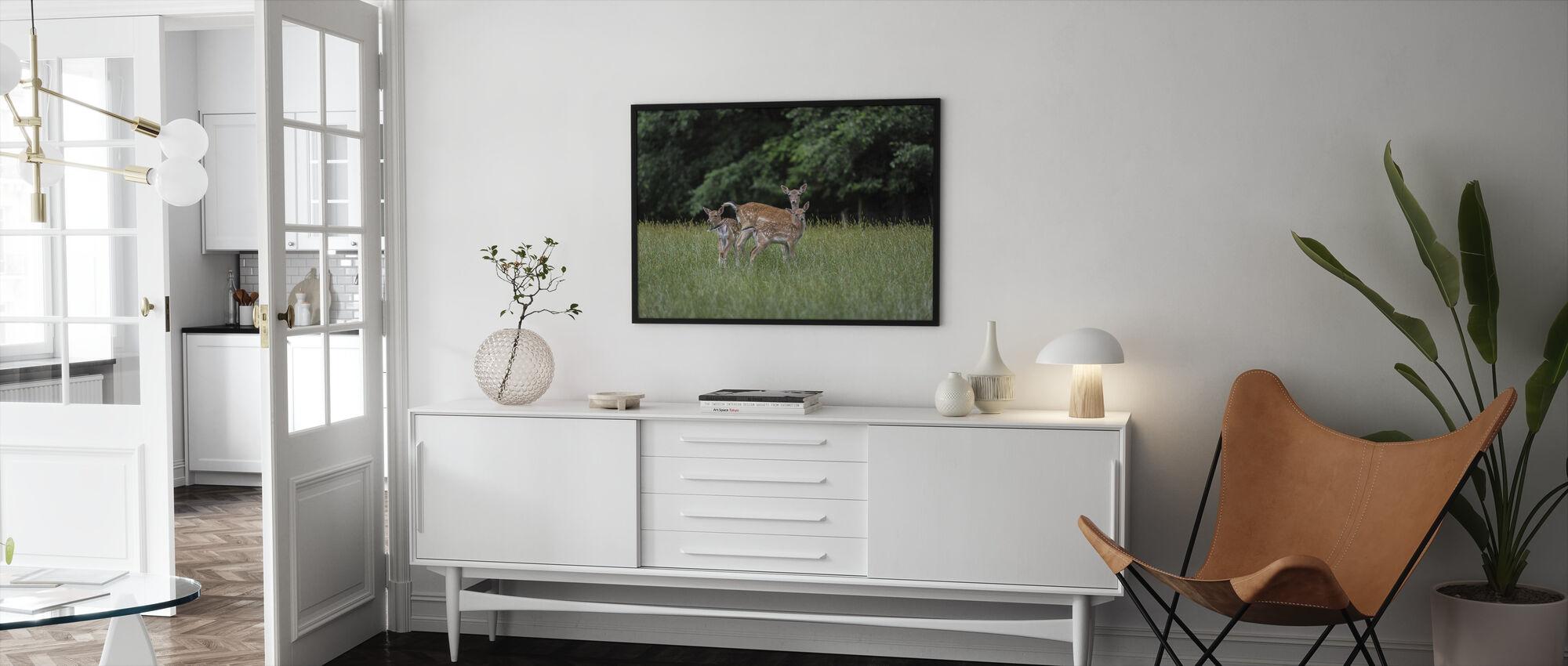 White Tailed Deer - Framed print - Living Room