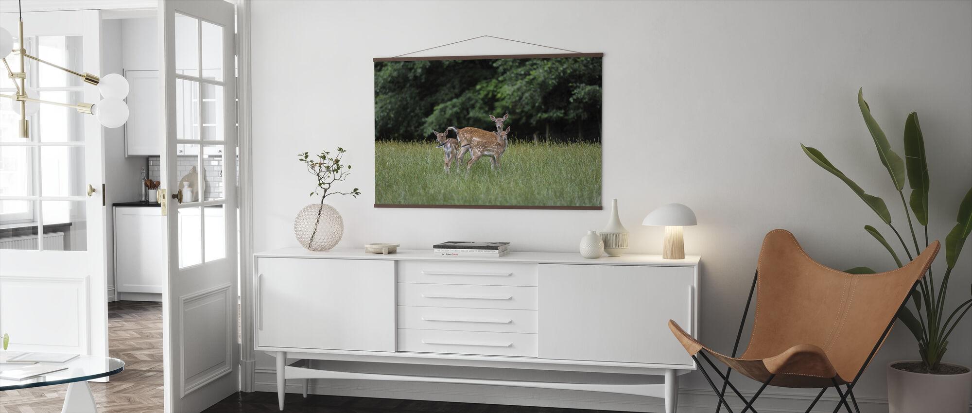 White Tailed Deer - Poster - Living Room