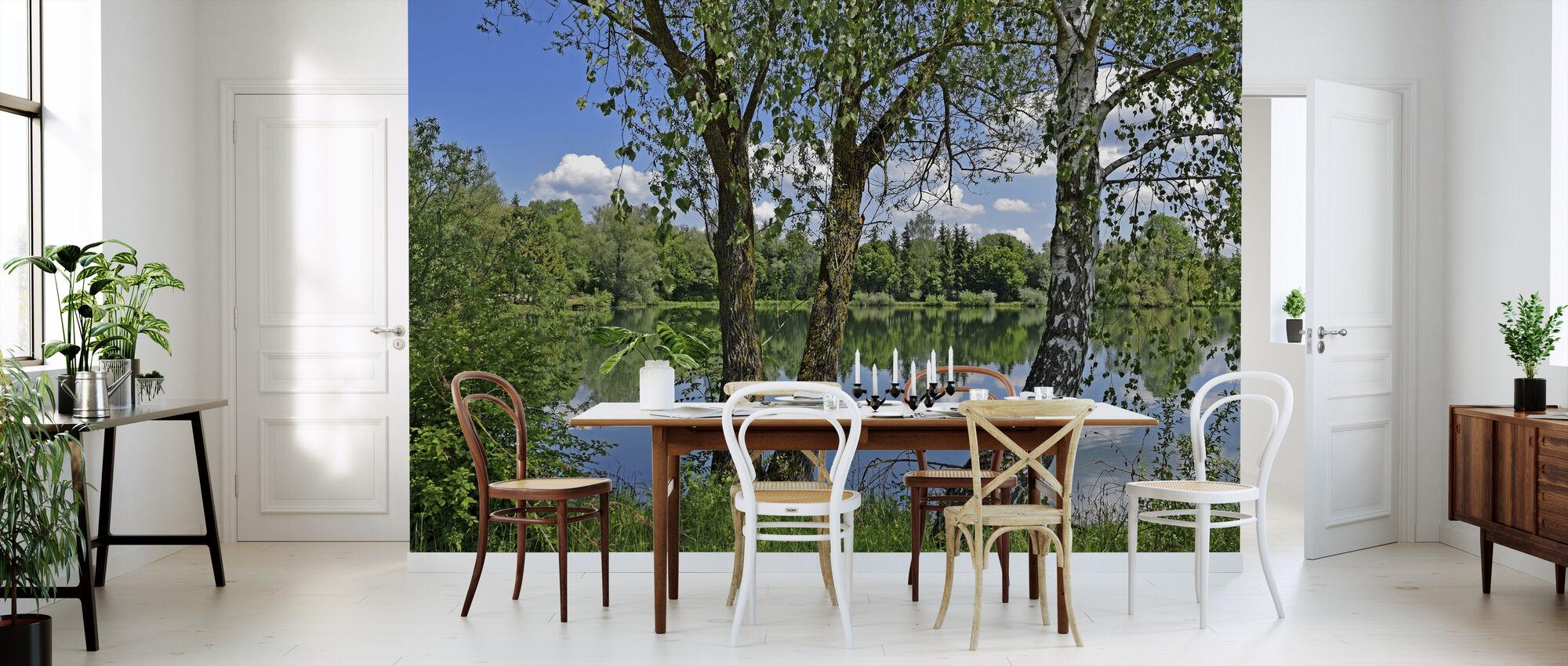 lake park fototapete nach ma photowall. Black Bedroom Furniture Sets. Home Design Ideas