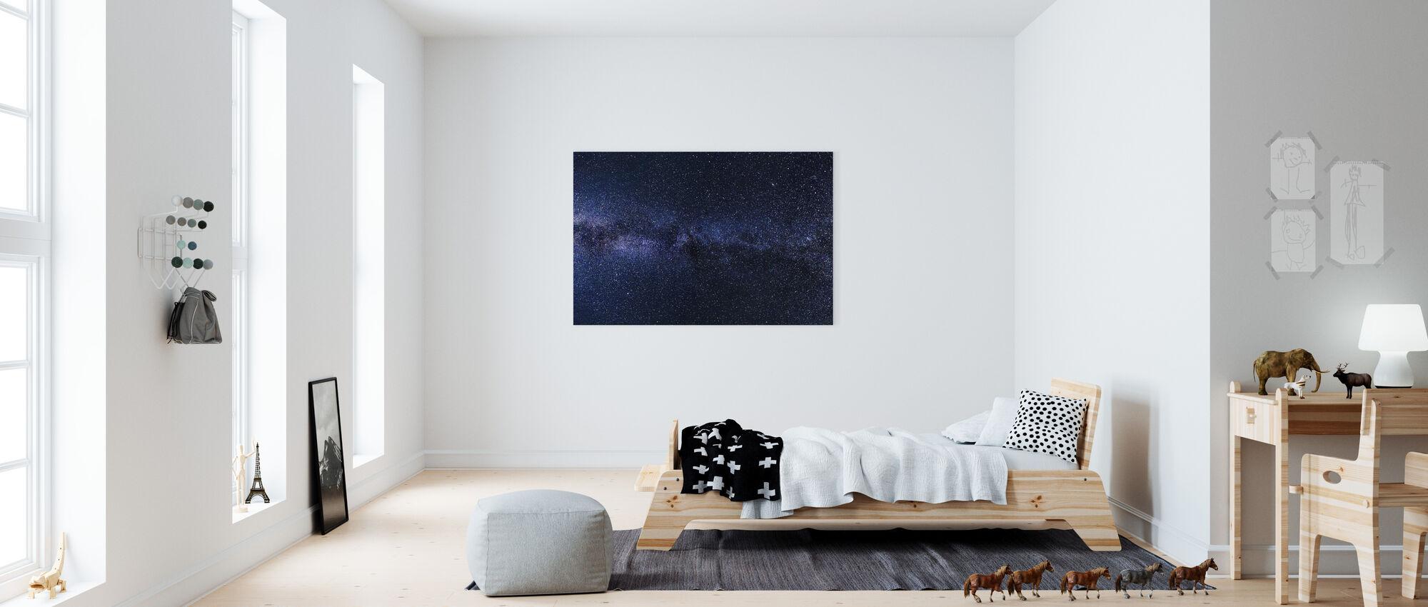 Mystical Starry Sky - Canvas print - Kids Room