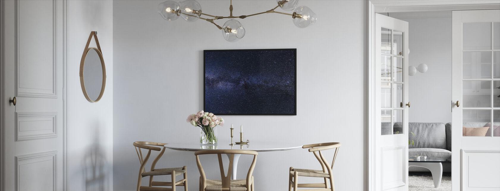 Mystinen tähtitaivas - Kehystetty kuva - Keittiö