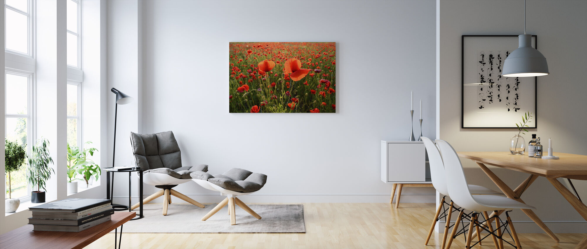 Poppy Fields - Canvas print - Living Room