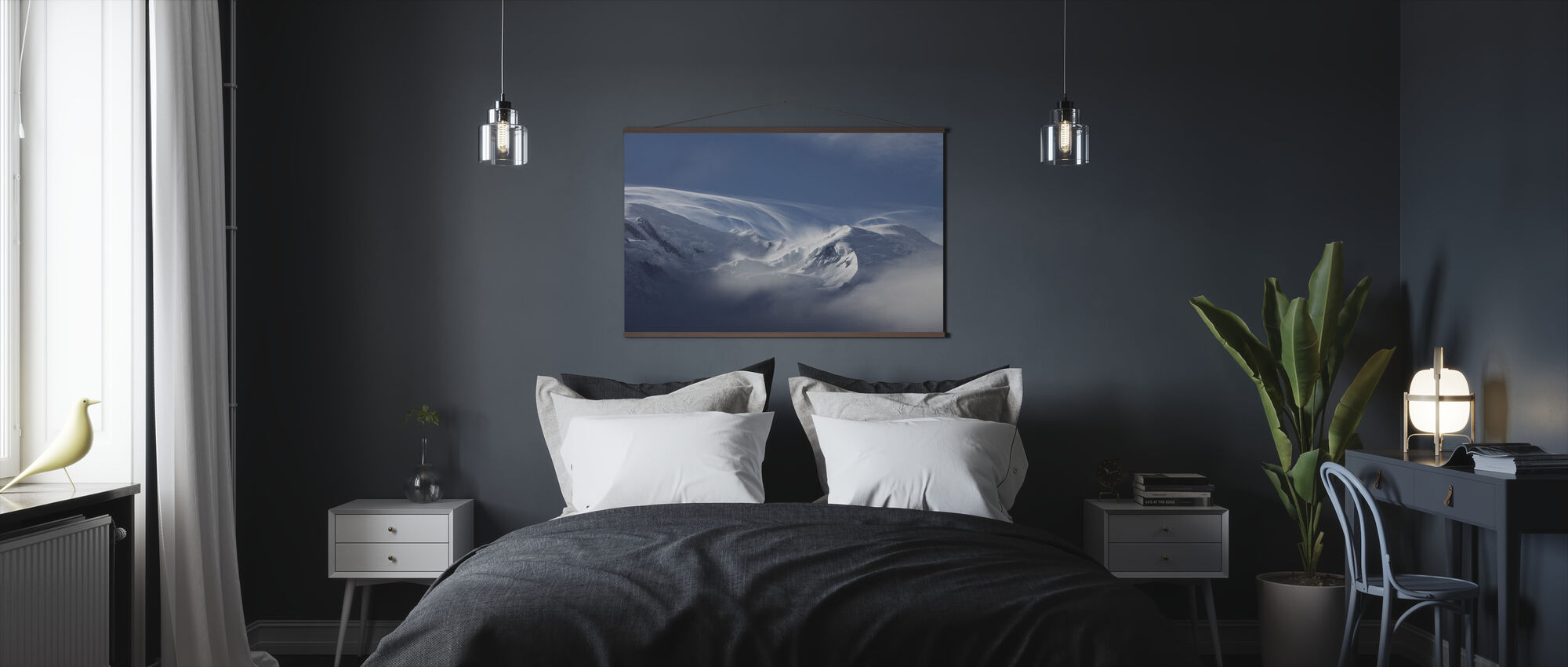 Winter Snow Mountain - Poster - Bedroom
