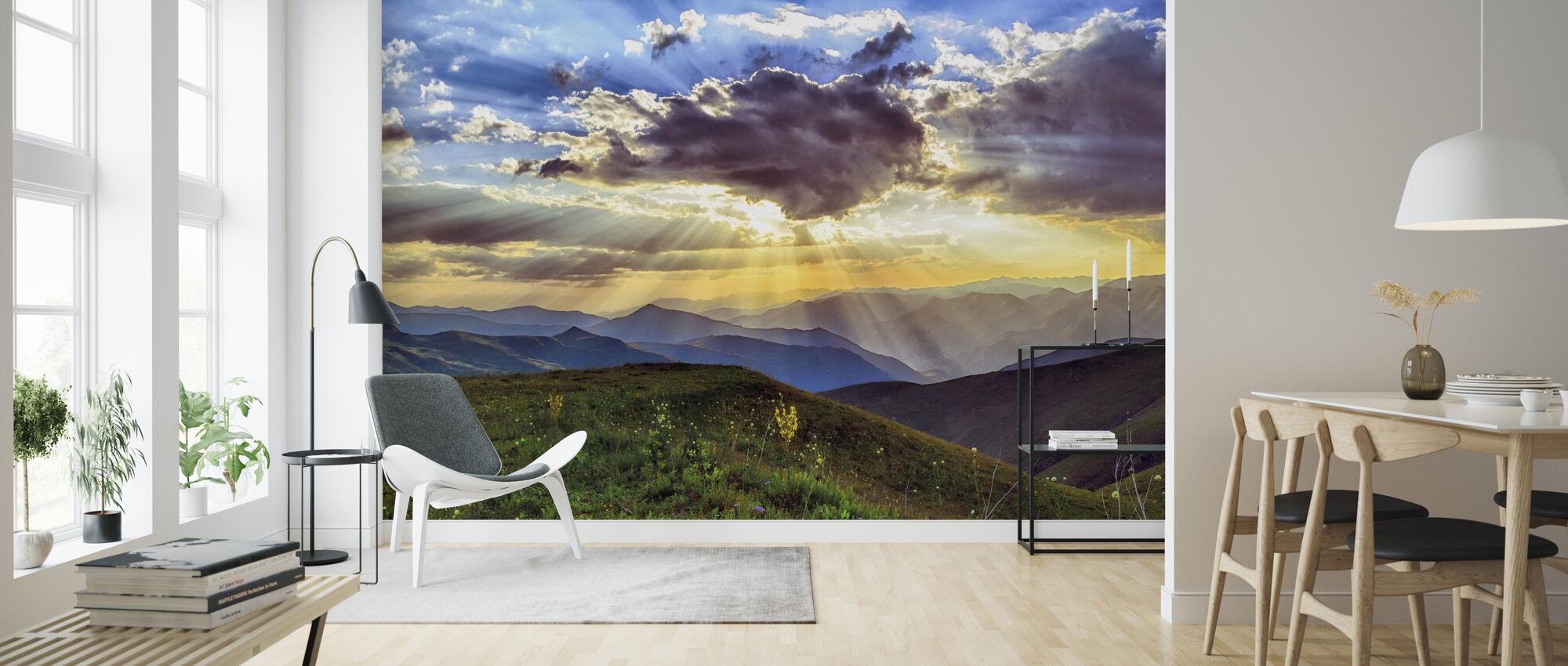 Highland Sunset - Wallpaper - Living Room