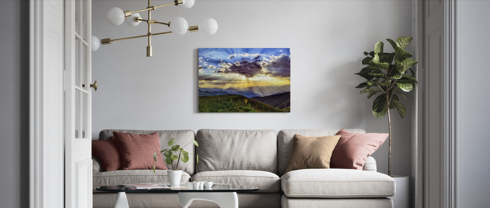 Highland Sunset - Canvas print - Living Room