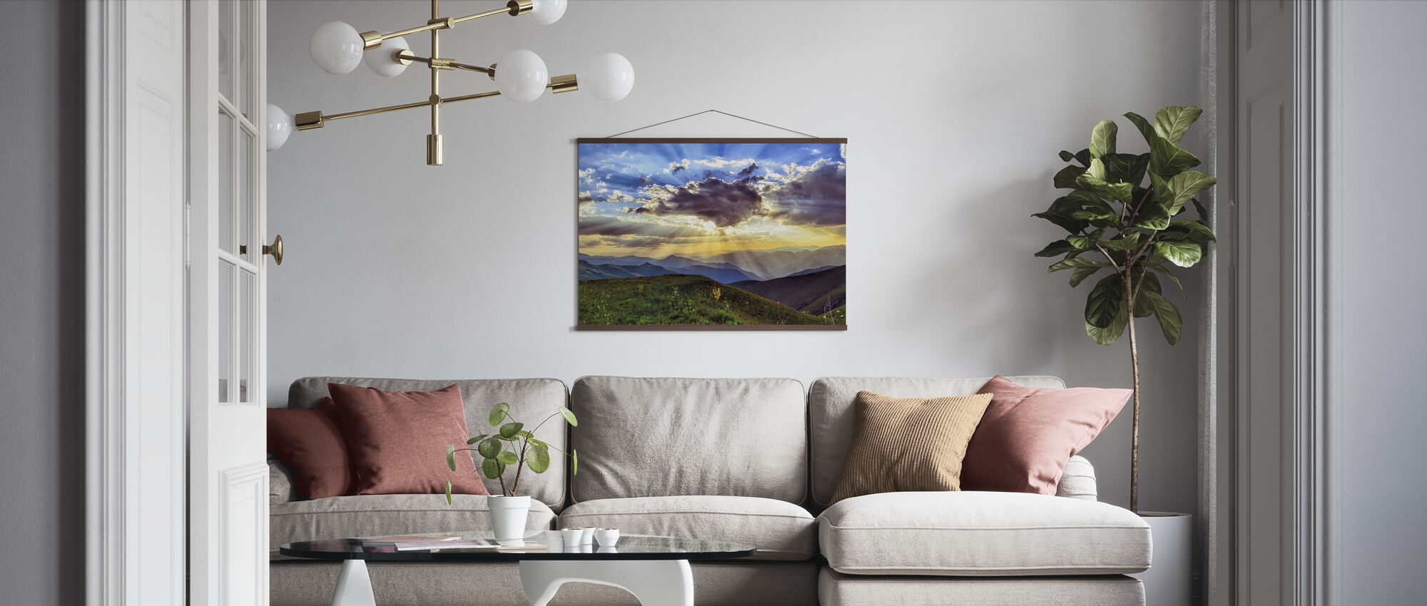 Highland Sunset - Poster - Living Room