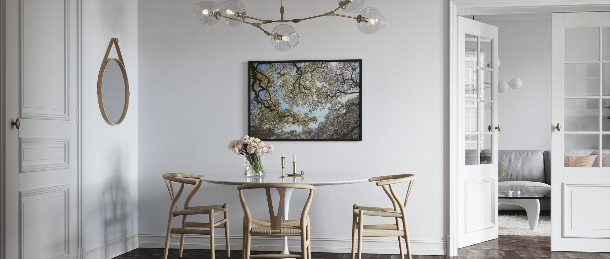 Magnolia-boom - Ingelijste print - Keuken