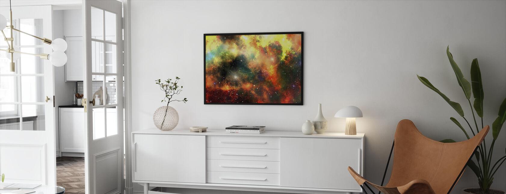 Outer Space - Framed print - Living Room