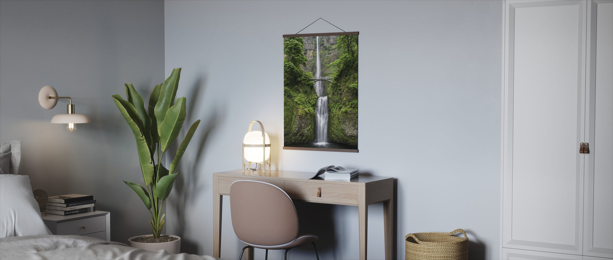 Waterwall and Bridge - Poster - Office
