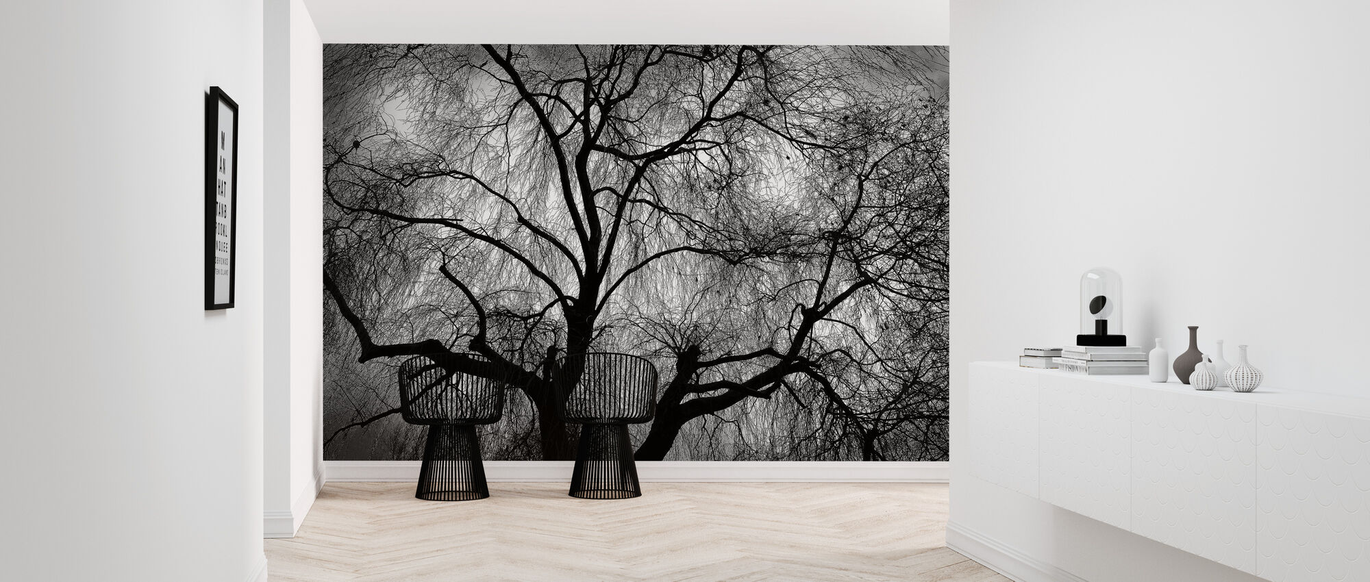 Bare Weeping Willow - Wallpaper - Hallway