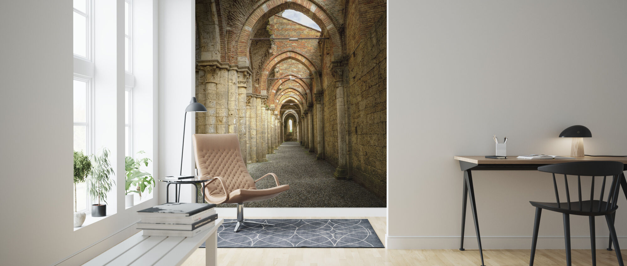Gothic Archway - Wallpaper - Living Room