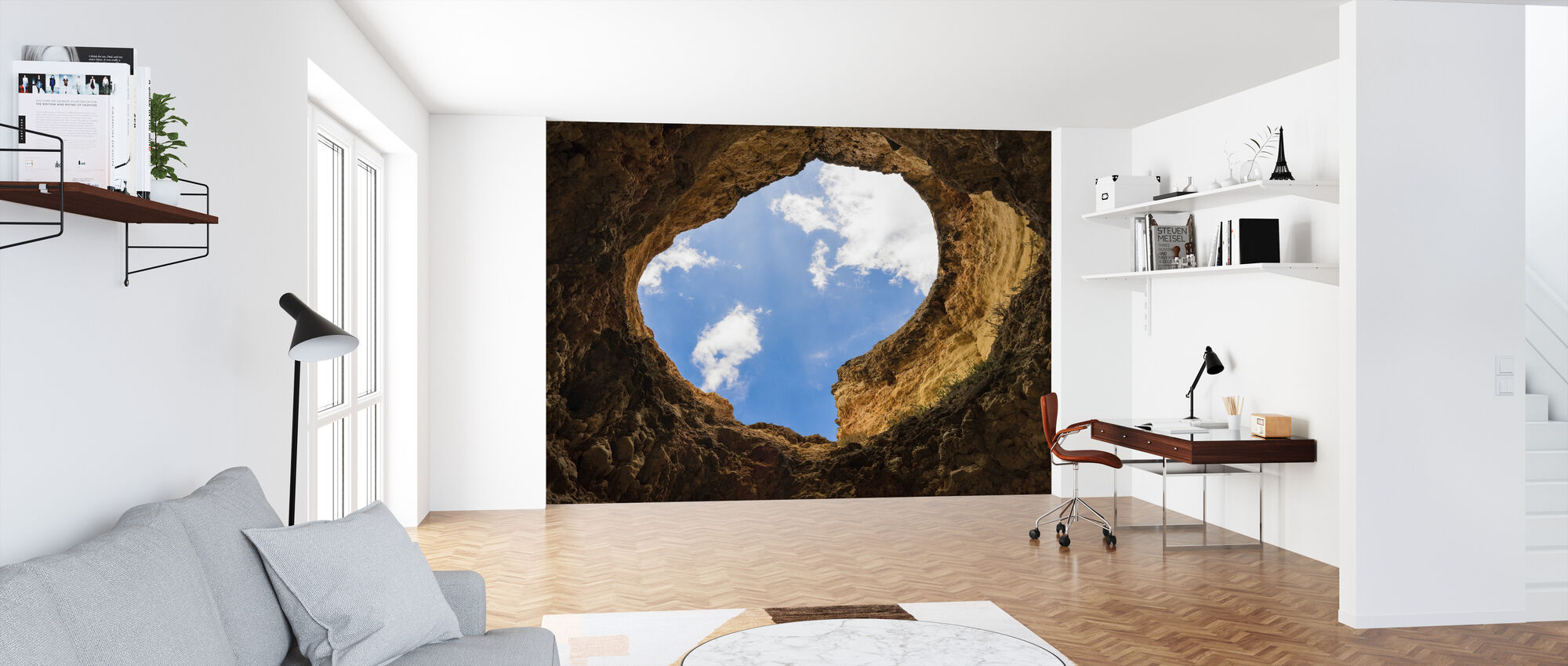 Cave Hole - Wallpaper - Office