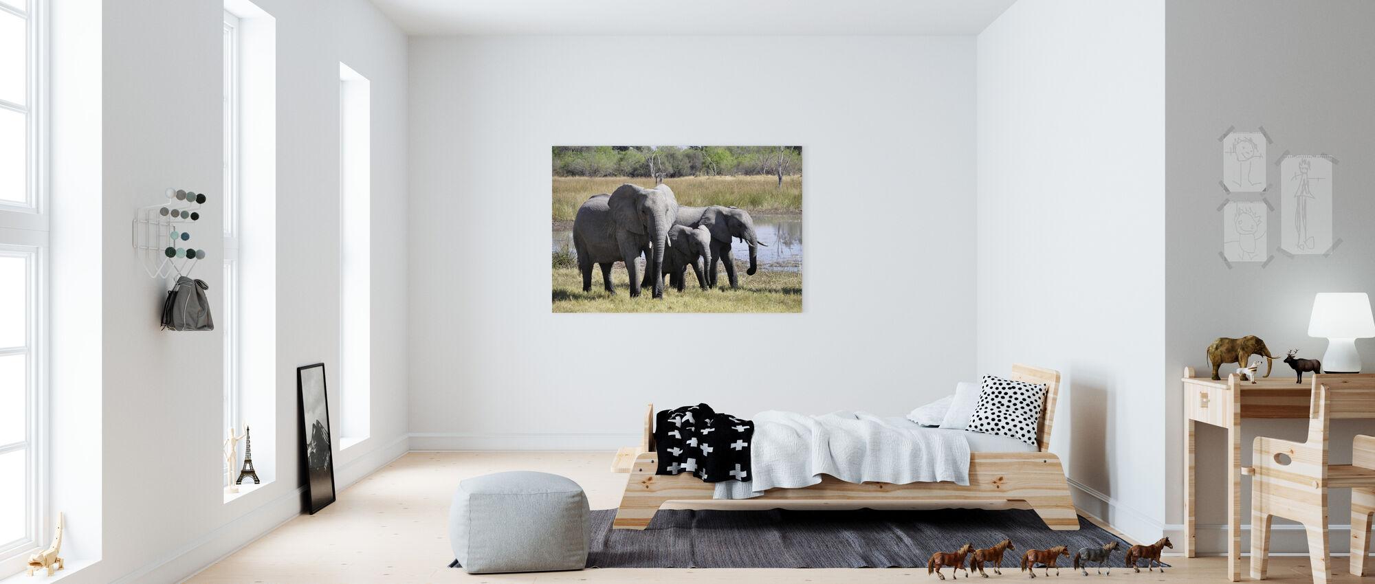 Olifantenfamilie - Canvas print - Kinderkamer