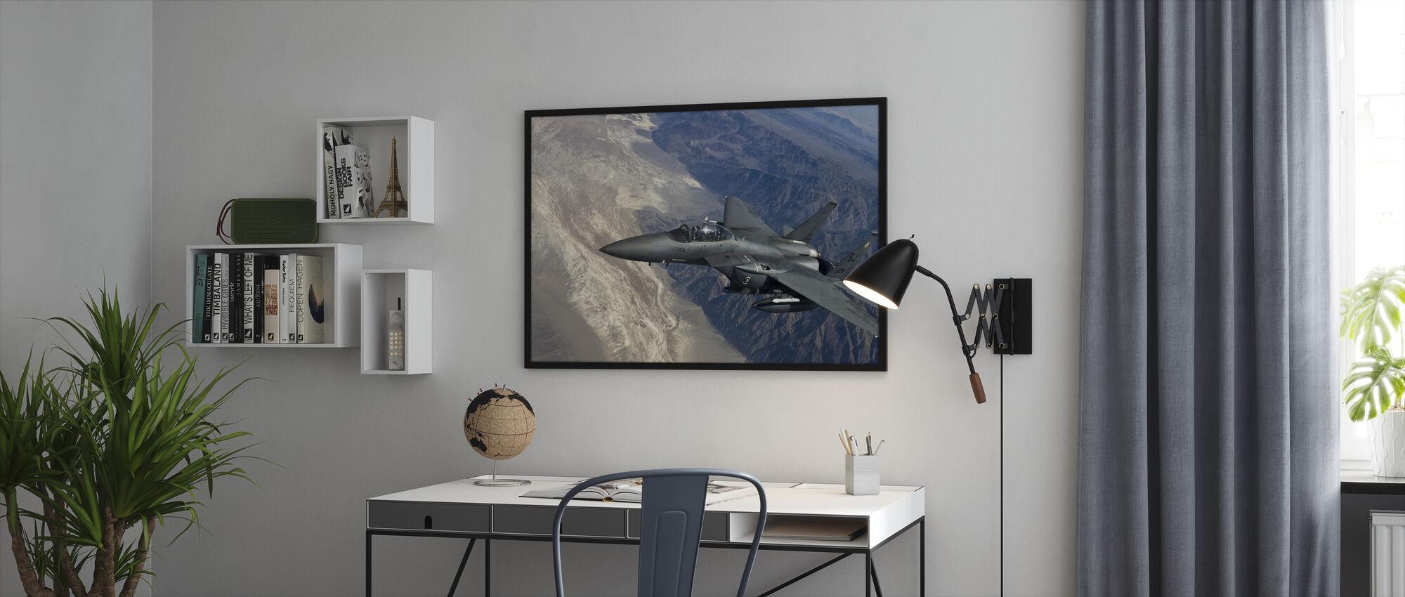 Luftbårne Fighter Jet - Innrammet bilde - Kontor