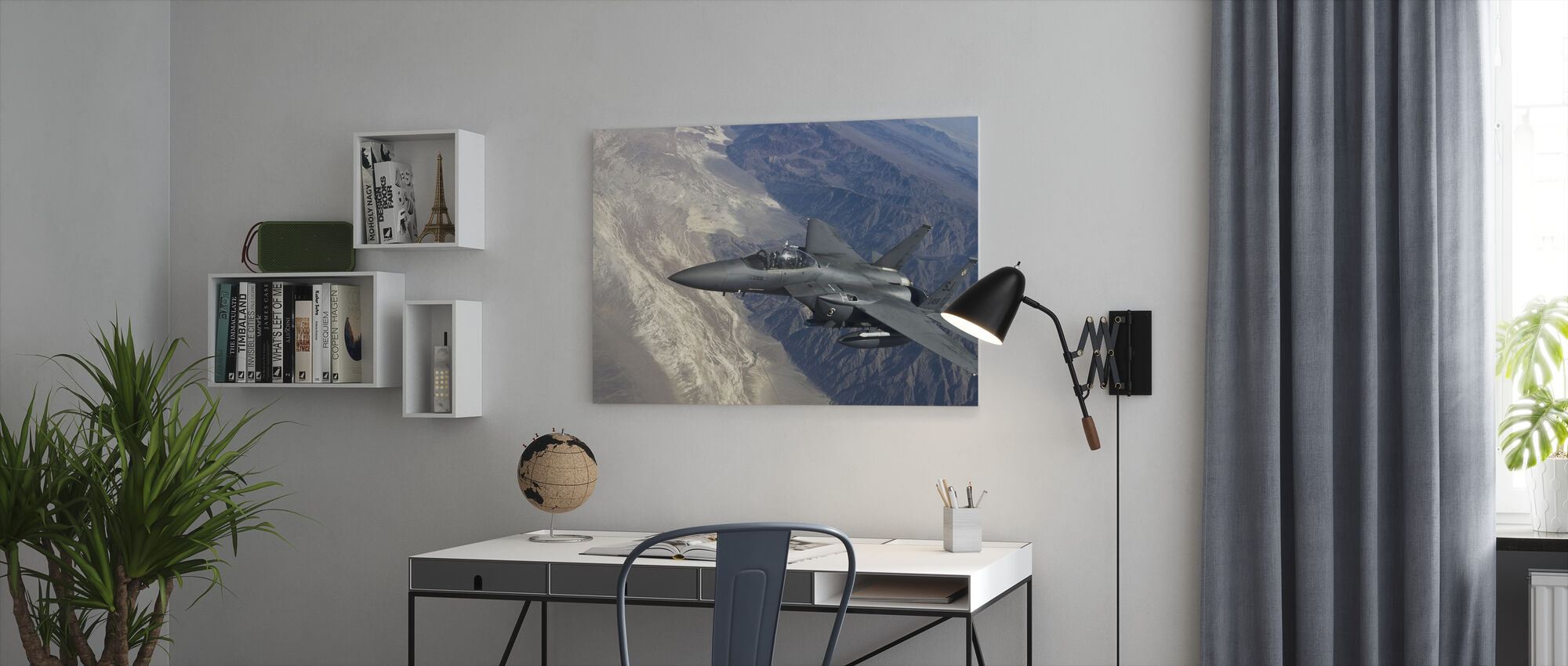 Airborne Fighter Jet - Canvas print - Office
