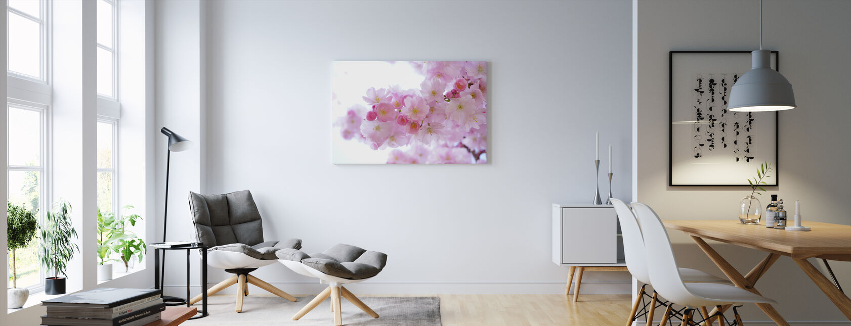 Blossom Cherry Flowers - Canvas print - Living Room