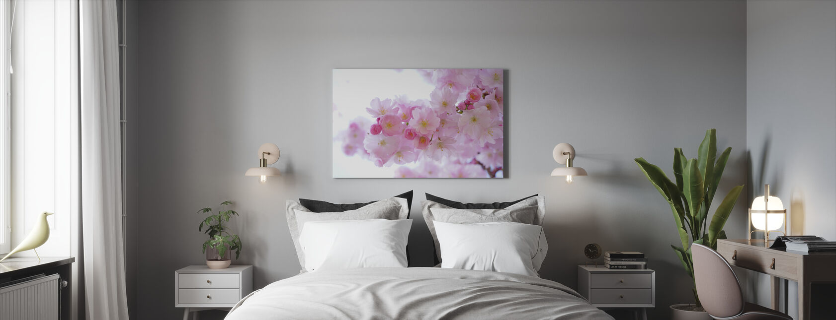 Blossom Cherry Flowers - Canvas print - Bedroom