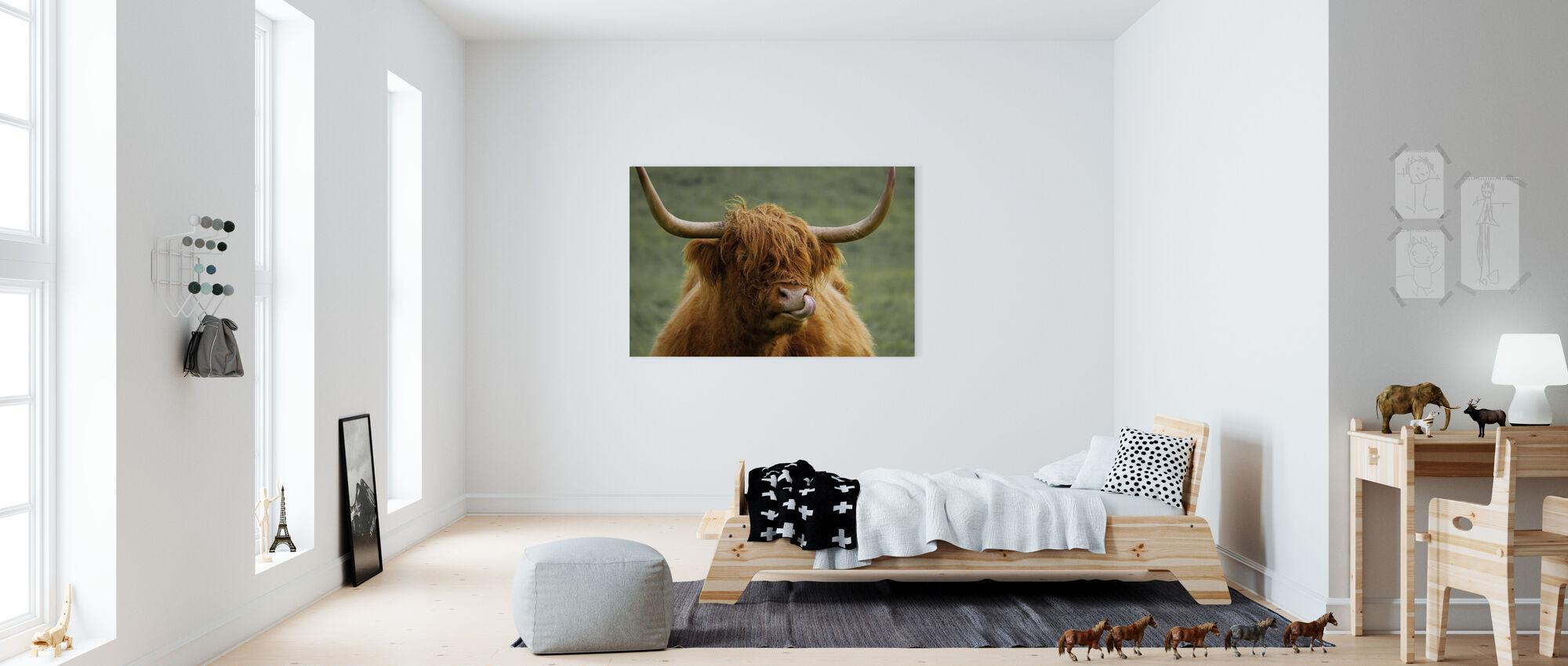Highland Cattle - Canvas print - Kids Room