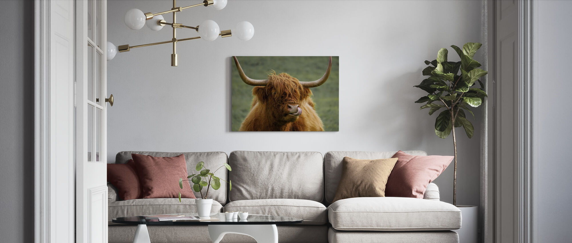 Highland Cattle - Canvas print - Living Room