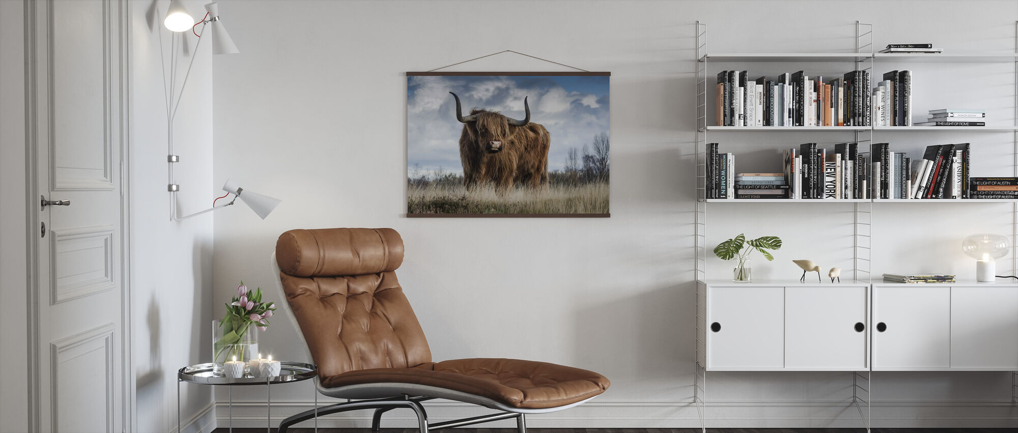 Bull in the Meadow - Poster - Living Room