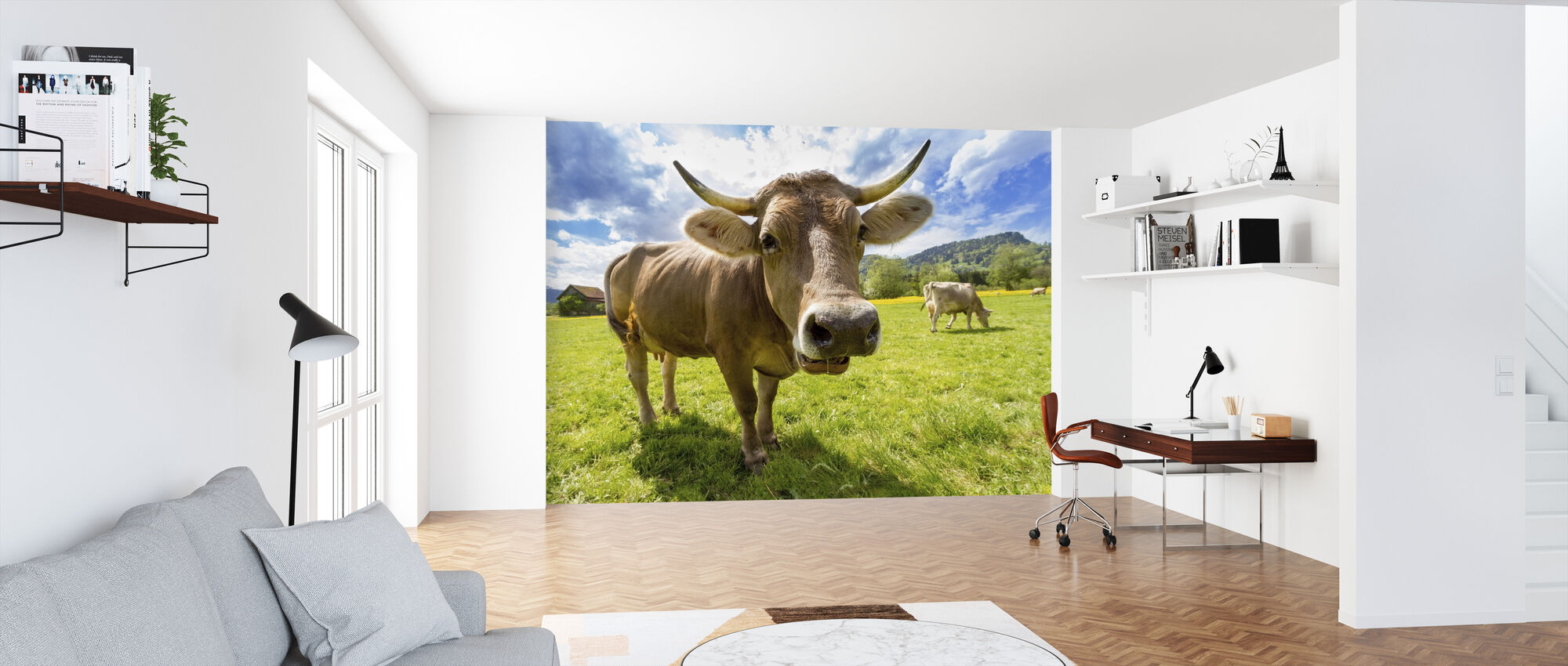 Cow Up Close - Wallpaper - Office