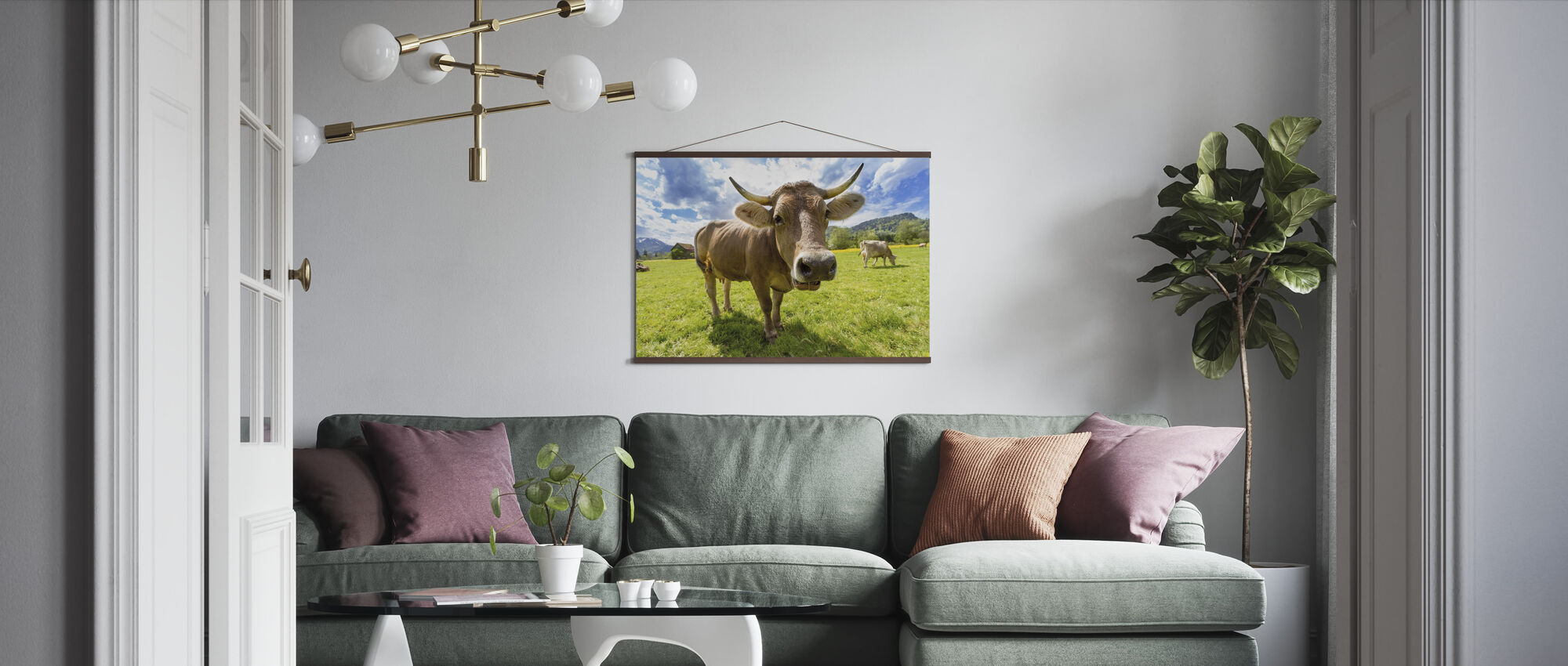Cow Up Close - Poster - Living Room