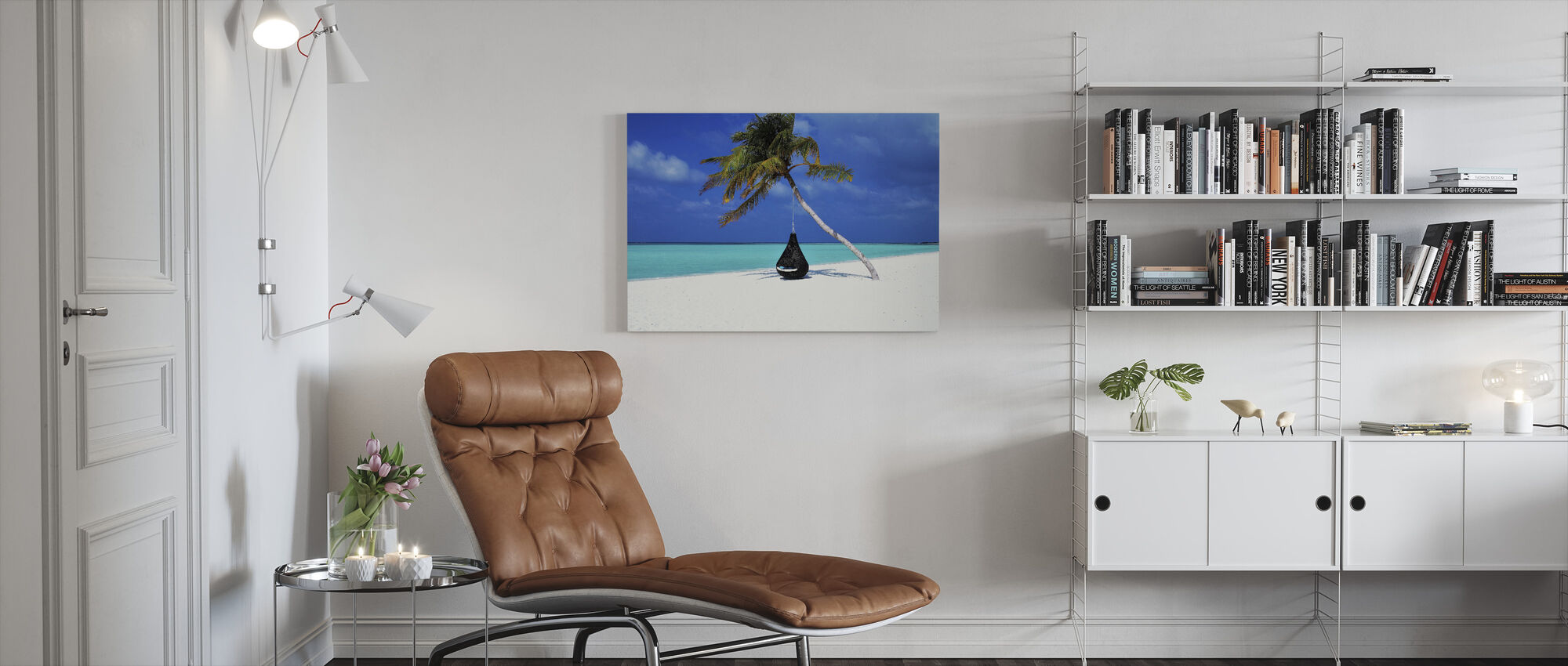 Beautiful Sand and Beach - Canvas print - Living Room
