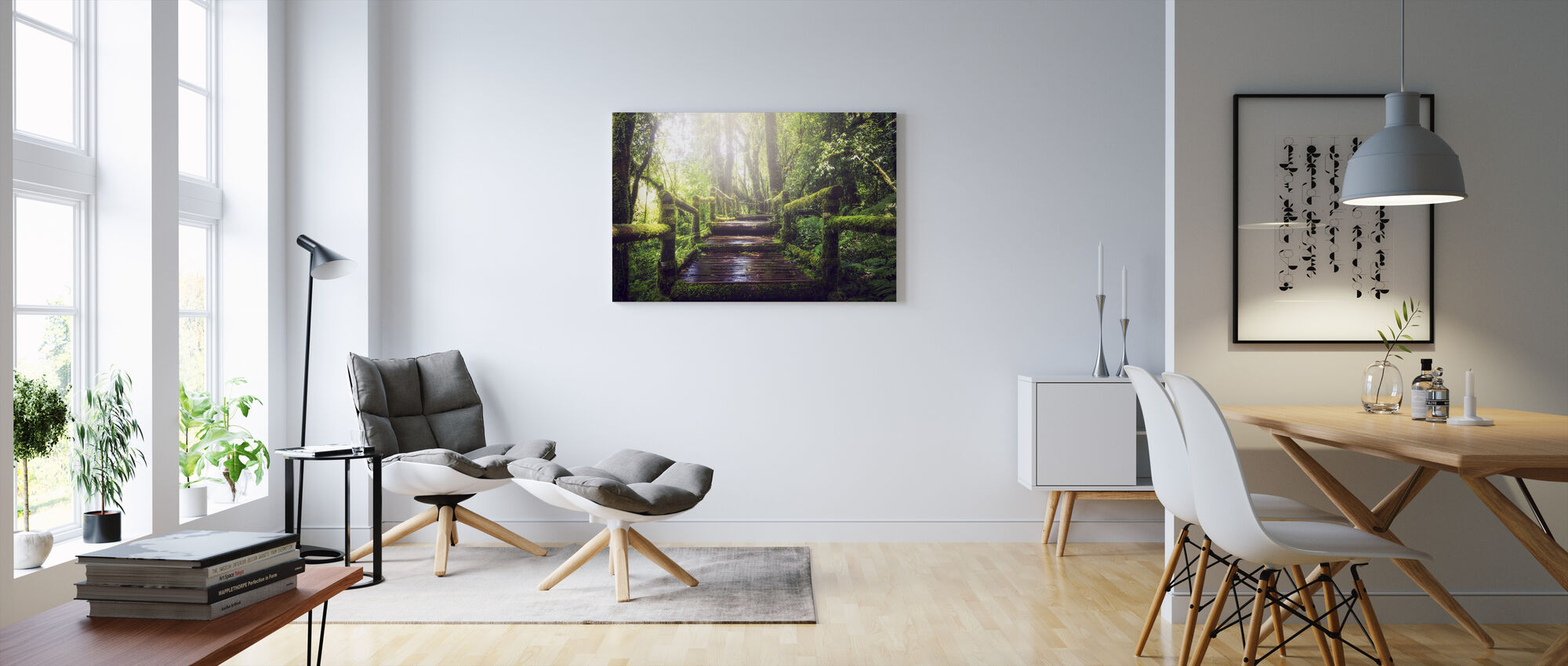 Pad in het bos - Canvas print - Woonkamer