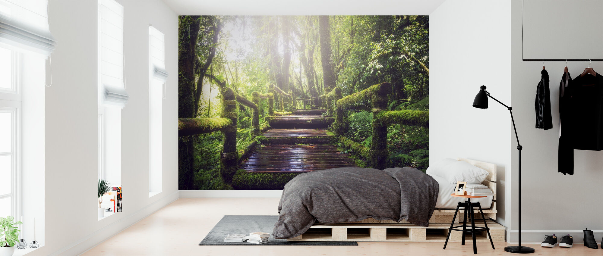 Pathway in the Forest - Wallpaper - Bedroom