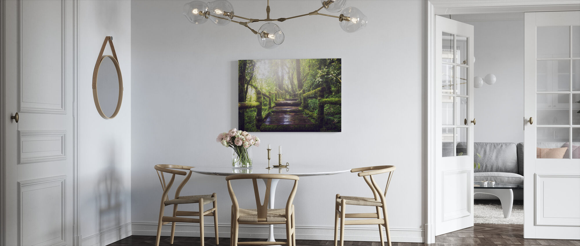 Pathway in the Forest - Canvas print - Kitchen