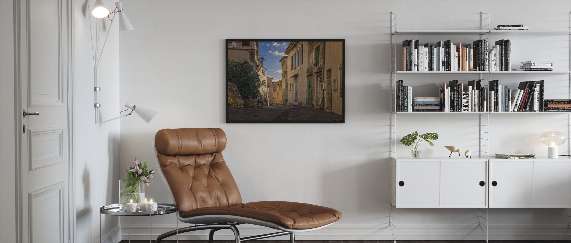 Rustic Alley - Framed print - Living Room