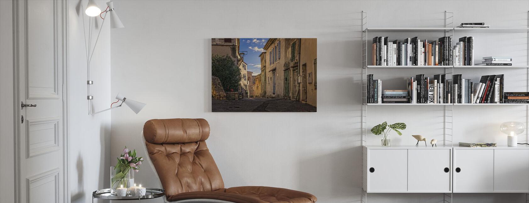 Rustieke Steegje - Canvas print - Woonkamer