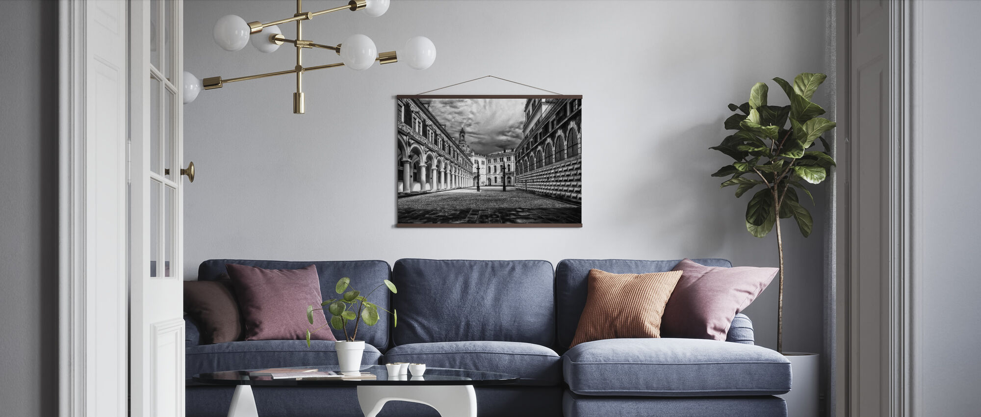 Black and White Castle - Poster - Living Room