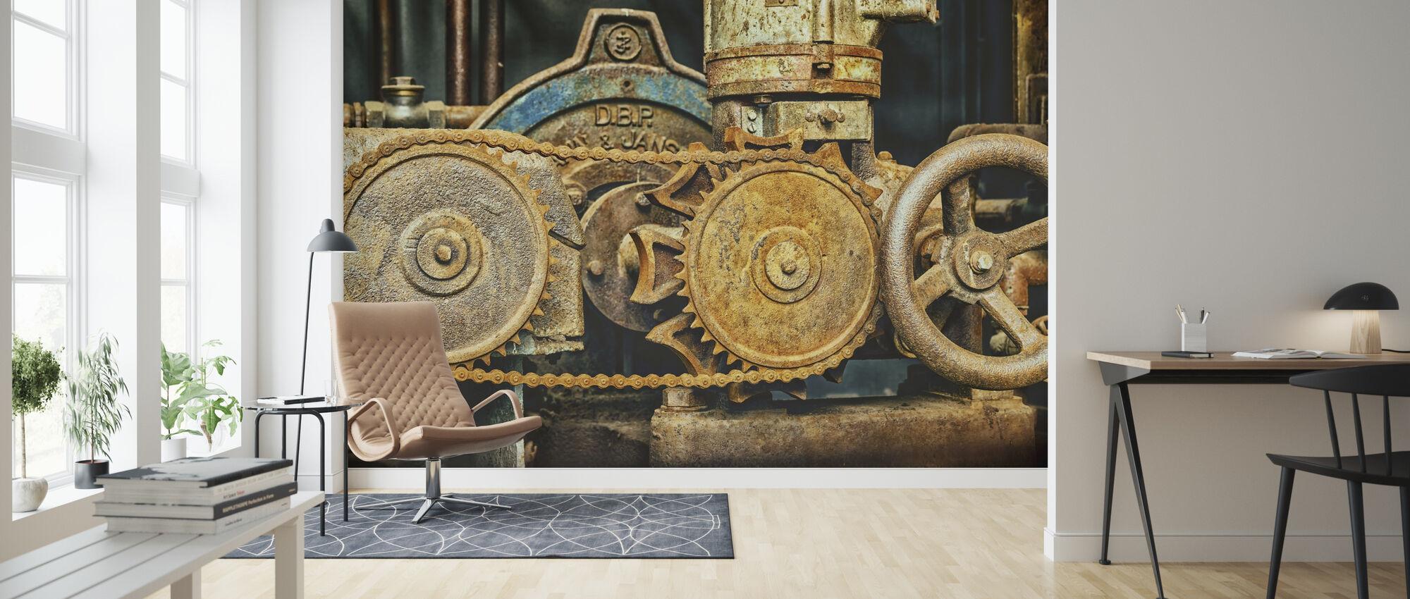 Machine Chain Gear - Wallpaper - Living Room