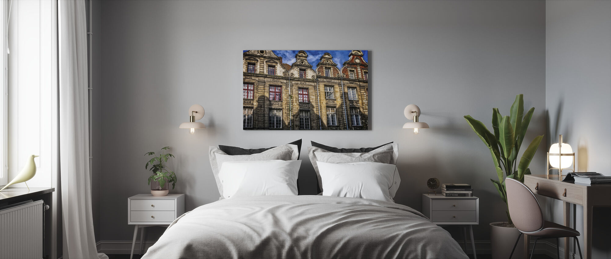 House Facade - Canvas print - Bedroom