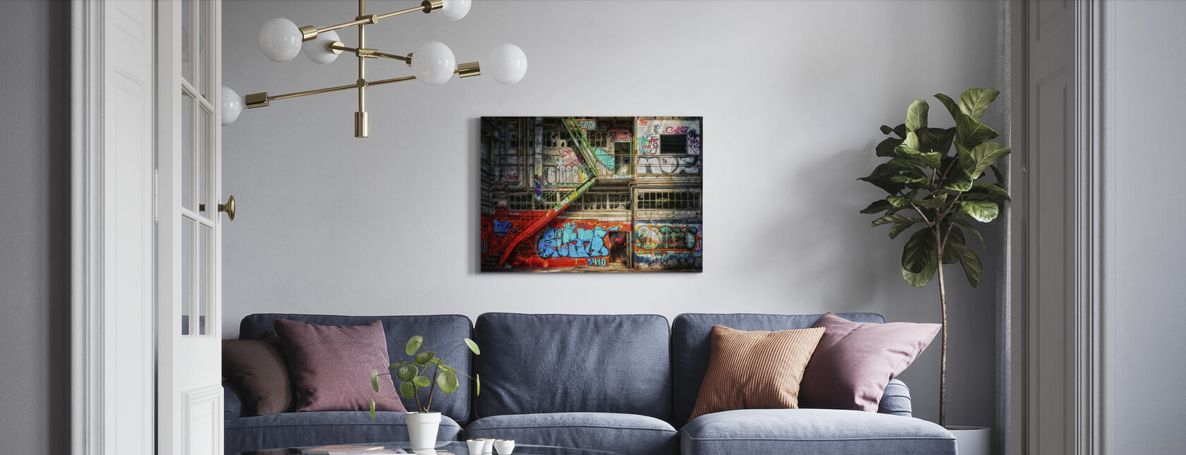 Abandoned Building - Canvas print - Living Room