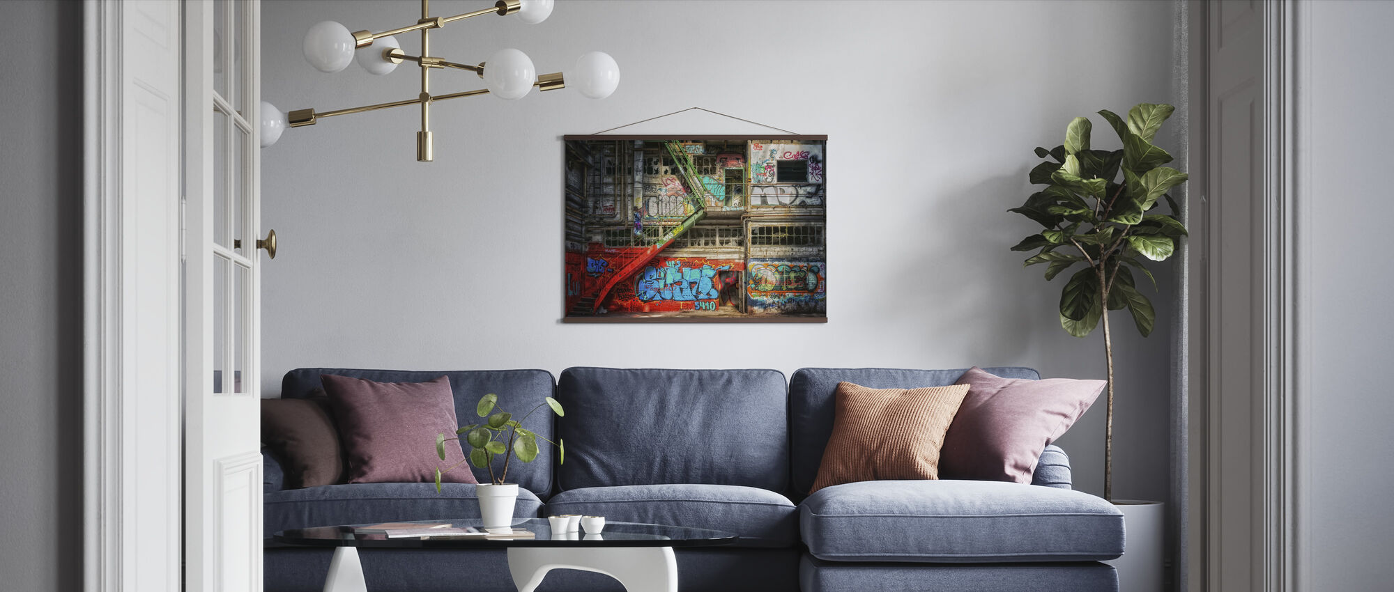 Abandoned Building - Poster - Living Room