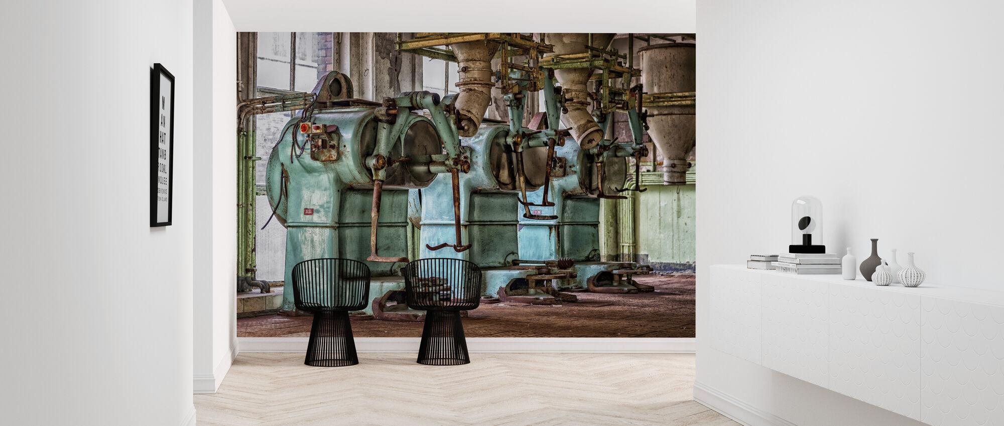 Old Factory Machines - Wallpaper - Hallway