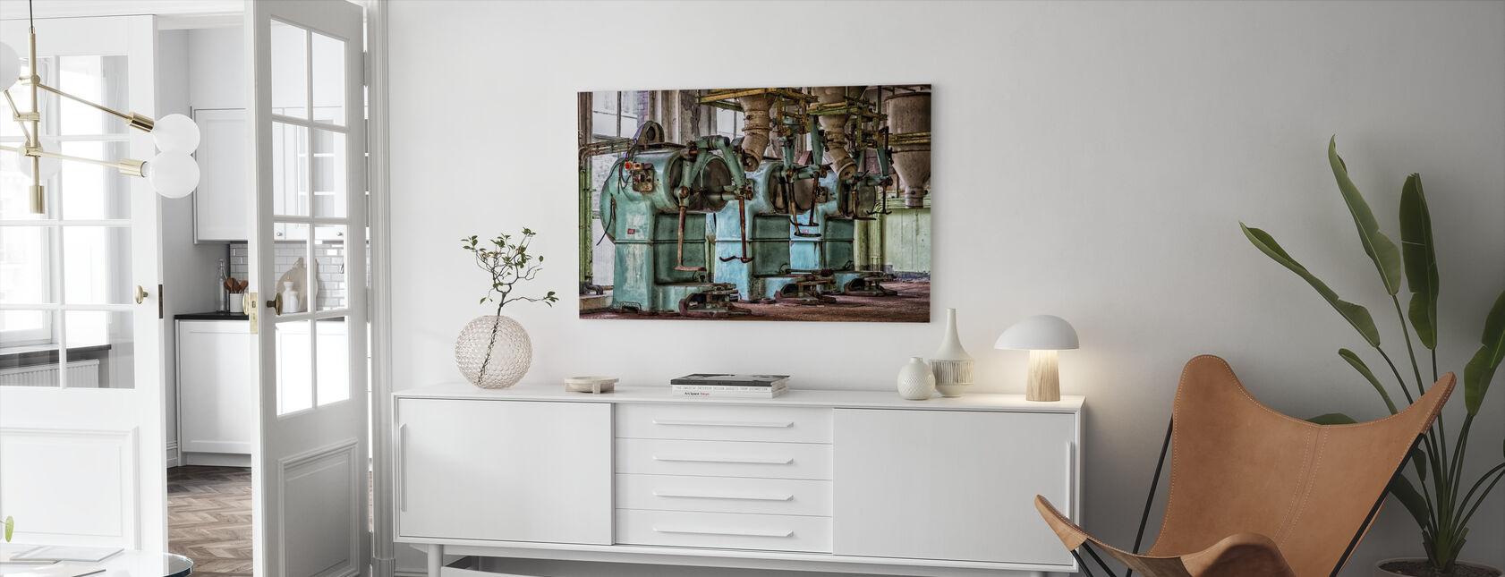 Oude Fabriek Machines - Canvas print - Woonkamer