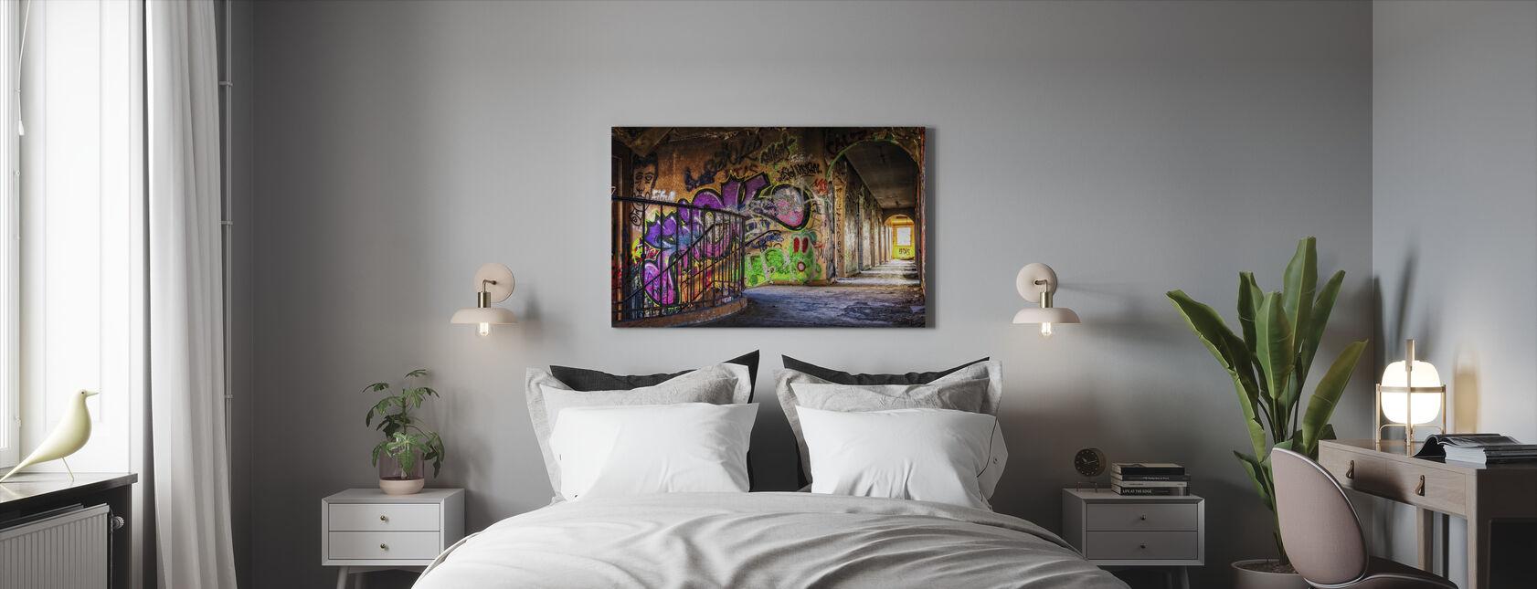 Colorful Grafitti - Lerretsbilde - Soverom
