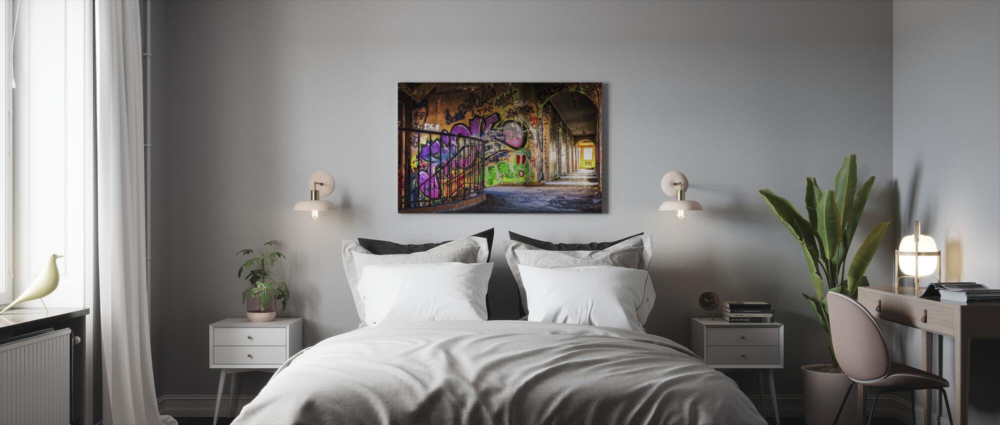 Colorful Grafitti - Canvastavla - Sovrum