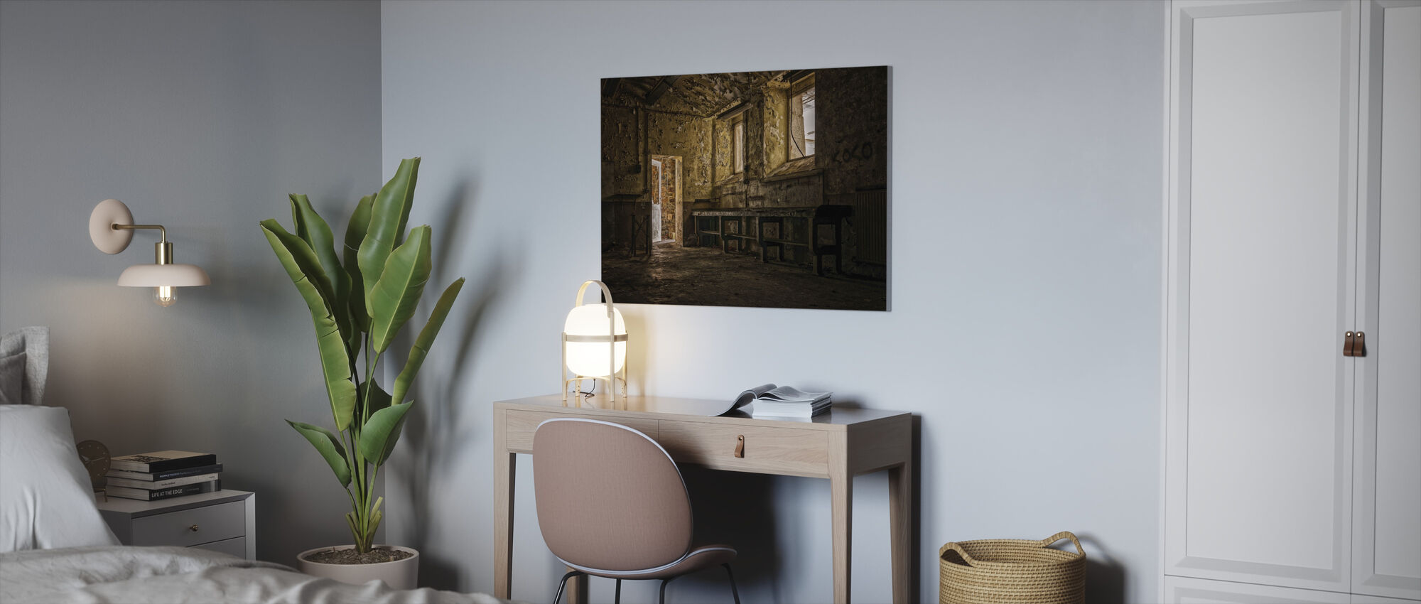 Old Emergency Exit - Canvas print - Office