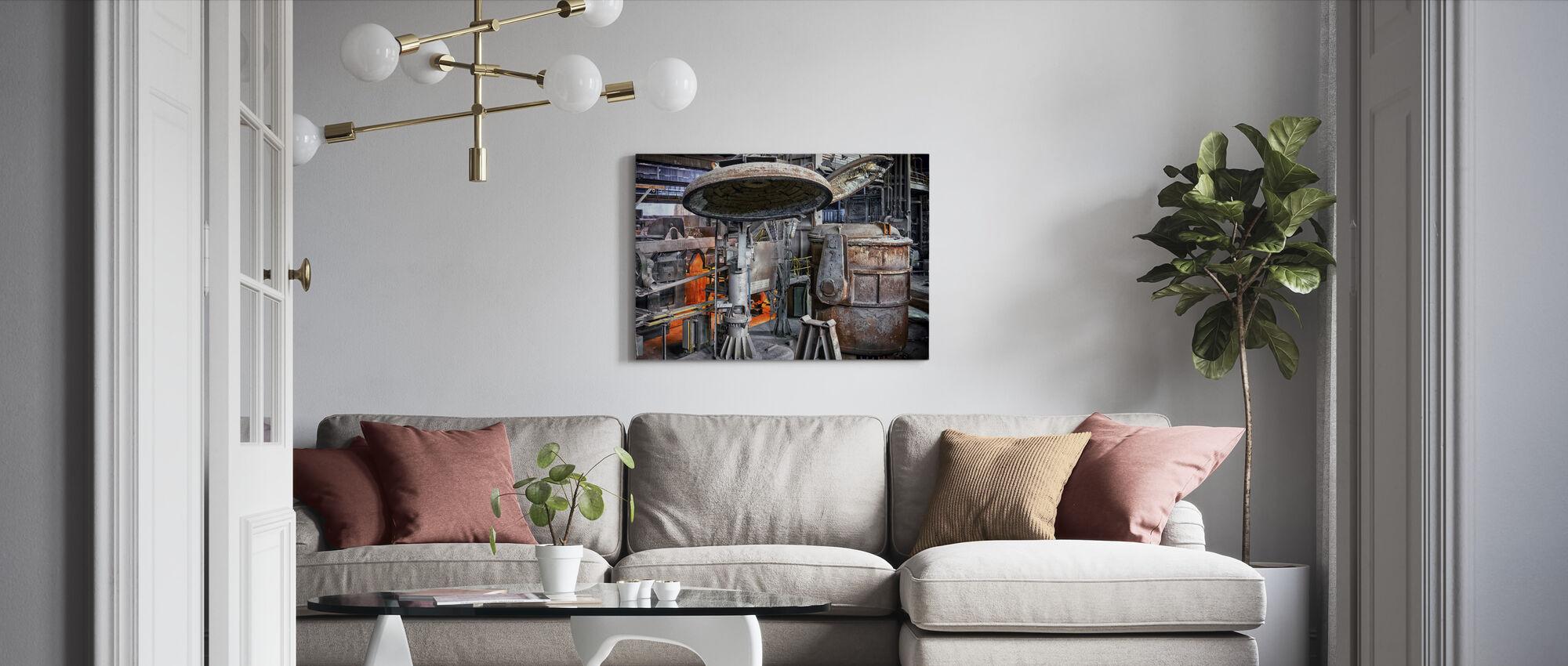 Steel Boiler Factory - Canvas print - Living Room