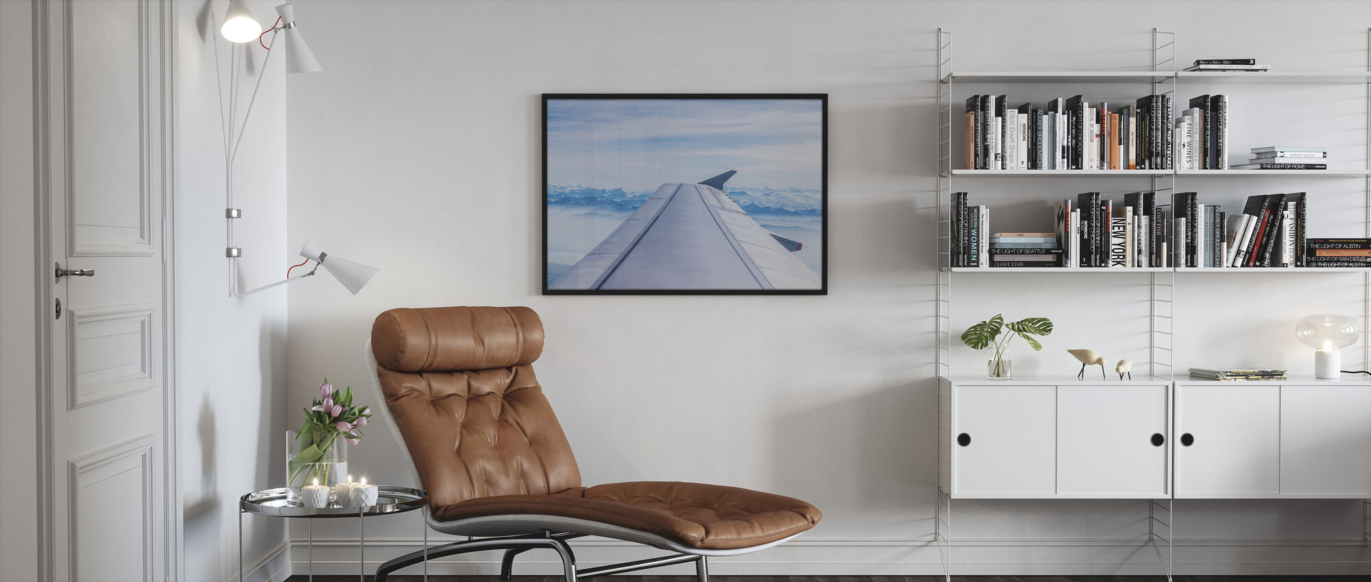 Aircraft Wing - Framed print - Living Room