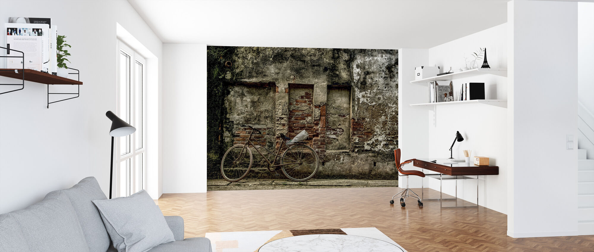 Old Rusty Bicycle - Wallpaper - Office