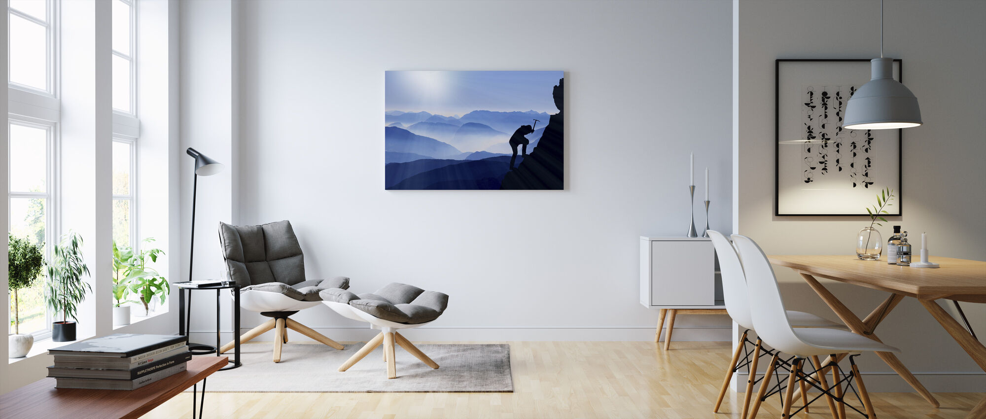 The Climb - Canvas print - Living Room