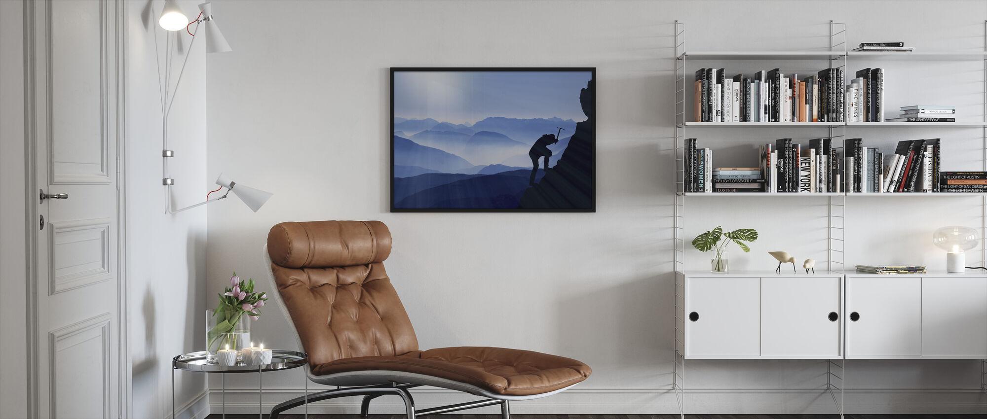 The Climb - Framed print - Living Room