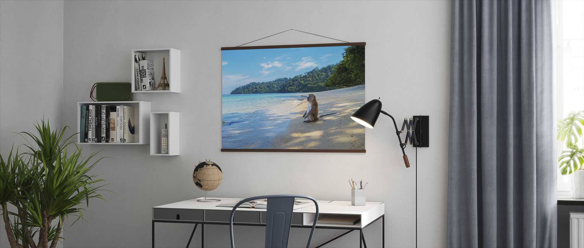 Monkey by the Beach - Poster - Office