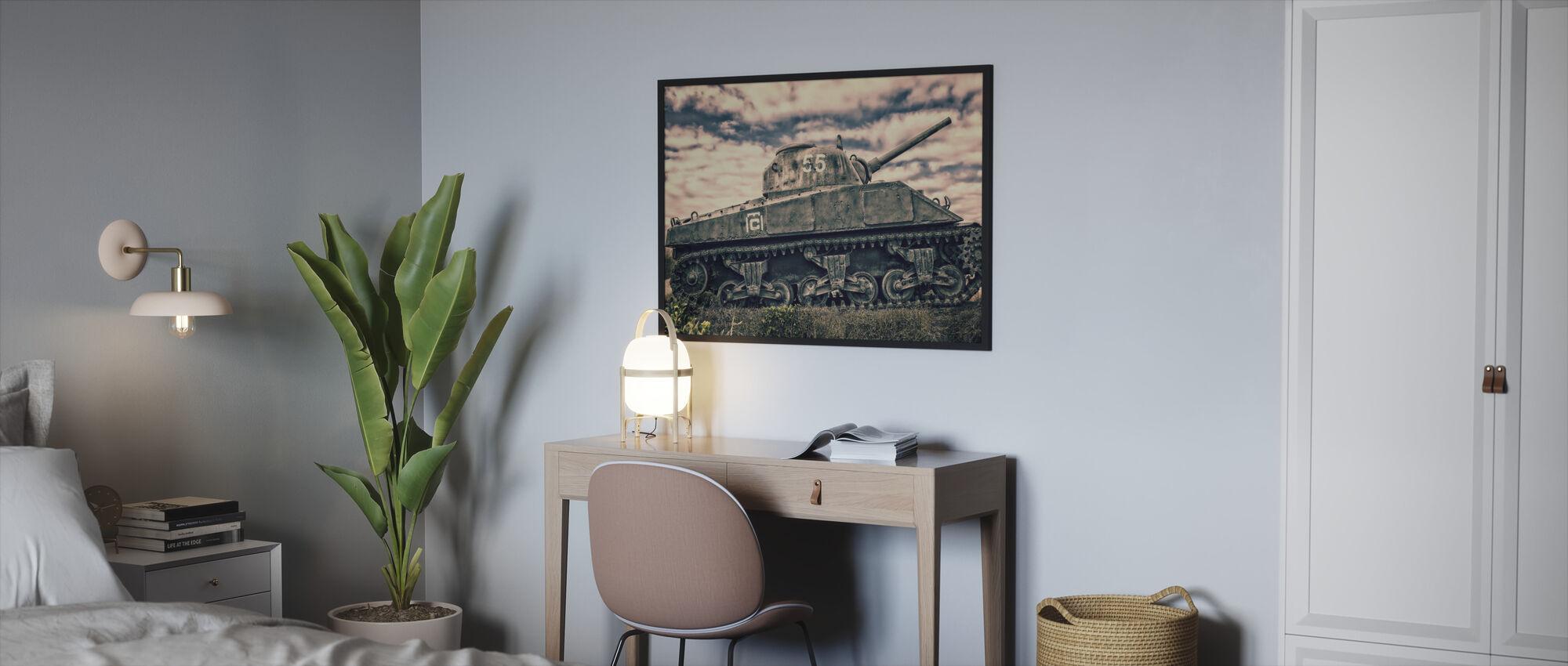War Tank - Ingelijste print - Slaapkamer